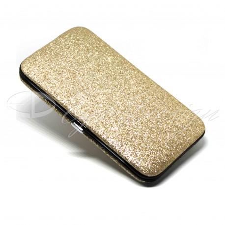 Pouzdro na pinzety - glitrované zlaté