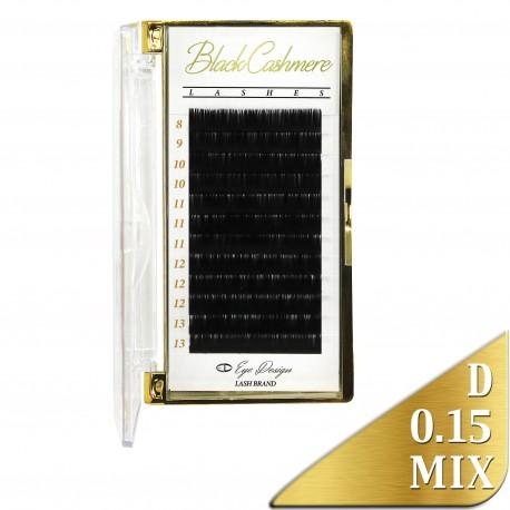 Black Cashmere - Odlehčené řasy - D 0.15 MIX