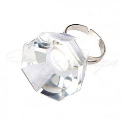Prstýnek na lepidlo - diamant - 1ks